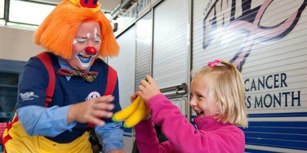 Kyle Clay as a safety clown